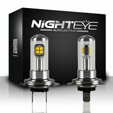 Nighteye H7 160W LED Fog Light Driving Lamp DRL 6000K Xenon White High Power 2X