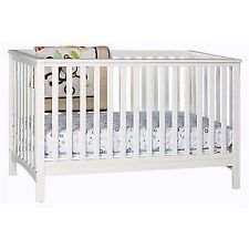 stork craft hillcrest fixed side convertible crib white