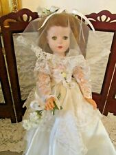 "American Character 50's Bridal Doll, 18"", Hp and Vinyl Walker, Nice Condition"