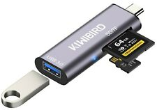 More details for kiwibird usb-c sd micro sd memory card reader, type-c to usb 3.0 female adapter