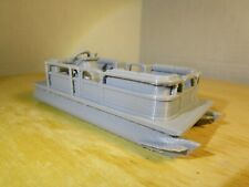 """ S "" Scale Pontoon Boat, Fishing Boat L@K 3D Printed 1:64 1/64"