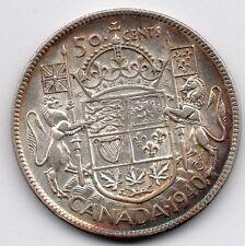 Canada 50 Cent 1940 (Half Dollar) (80.0% Silver) Coin