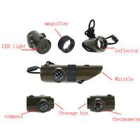 Kit di fischietto di sopravvivenza militare di emergenza Compass Led Light ThYBH