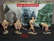 King and country EA09 8TH Ejército Británico Tommys Advance bajo fuego Soldado De Juguete Set