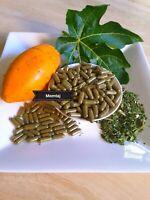Organic Papaya Leaf Capsules, 500mg each - 100 Vege Capsules