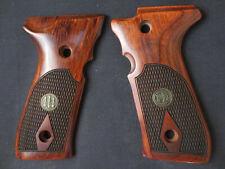 Beretta 92F 92FS M9 M9A1 Rosewood Checkered Pistol Grips Full-Size w/Medallions