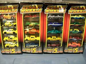 Racing Champions Hopt rod 5 packs lot of 4 Chevy Ford Dodge Plymouth #1