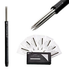 Crystalum® Microblading Eyebrow Shading R18 Needles Blades Tattoo Tattooing