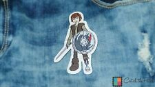 Iron on patches - How to Train Your Dragon Dragons Hicks comic children – brown
