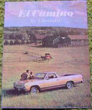 1967 Chevrolet El Camino Sales Brochure Foldout 67
