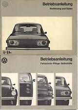 VW 412 E Typ 4 Betriebsanleitung 1972 Bedienungsanleitung Handbuch Bordbuch BA