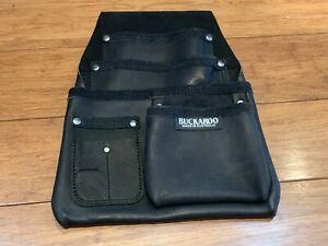 BUCKAROO 4 POCKET LOW DROP BAG - IN BLACK (NBF4B) - NEW : NEVER USED !