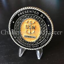 C2 USS Vella Gulf CG 72 CMDCM Command Master Chief Shay Langejans Challenge Coin