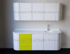 Dental Surgery Practice white gloss cabinets cabinetry  units white Corian sink