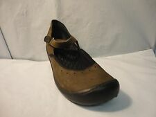 Privo by Clarks Women's Brown and Black Leather Mary Jane Clog Size 7