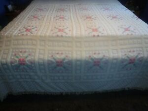 Vintage King Size Tufting Chenille Bedspread