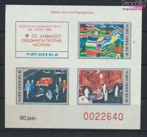 makedonien Z miniature sheet 2B (complete issue) Zwangszuschlagsmarken (9552860