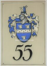 Custom Coat of Arms Metal House Plaques Hand Painted Family Crest Sign