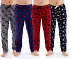 Mens Polar Fleece Lounge Pants Pyjama Soft Bottoms Warm Check Stag Star M-XXL