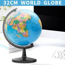 Rotating World Earth Globe Blue Ocean Map Kids Child Toy Education Gift 20 32cm