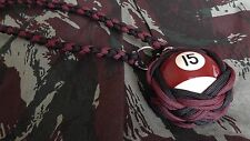 "Boule Billard N°15 ø52 mm Lanyard ""Self Defense/Survie"""