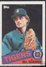 Tarjeta de béisbol Topps 1985-no 586-Bill Scherrer-Tigres de Detroit