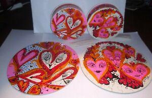 """1968 Love Thingies Puzzle Sandy Miller 7"""" circular LOT OF 2 COMPLETE springbok"""