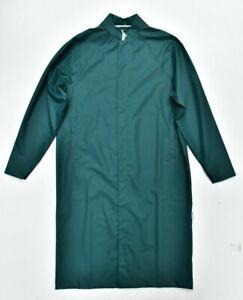 New RAINS Mac Macintosh Jacket Coat Waterproof in Dark Teal Size S/M
