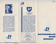 AUTOMOBILES RENE BONNET FOLD OUT TEXT ONLY SMALL SIZE BROCHURE.