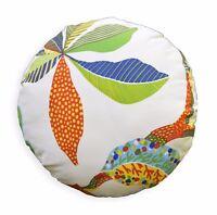 lf343n Beige Apple Green Yellow Orange Blue Cotton Canvas Round Cushion Cover