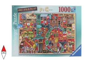 PUZZLE GRAFICA RAVENSBURGER FANTASY AWESOME ALPHABET F AND G 1000 PZ