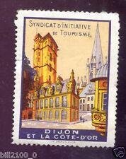 vignette .. dijon . syndicat d'initiative de tourisme  .. timbre ...