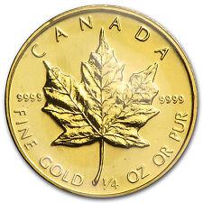 1984 Canada 1/4 oz Gold Maple Leaf BU - SKU #82821