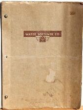 Sales Booklet ~ Los Angeles Water Softener Co  1947