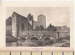 C1815 Antico Piccolo Georgiano Stampa ~Waltham Abbazia~