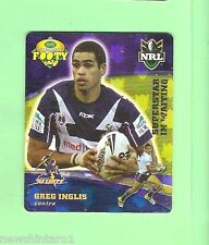 2007 GOLD SERIES  RUGBY LEAGUE TAZO - #22 GREG INGLIS, MELBOURNE STORM