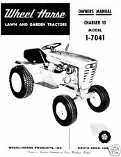 Wheel Horse Charger 10 Owners Manual Model 1-7041