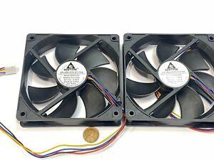 2 pieces GDSTIME Computer Case fan Large12V 4Pin 120mm 25mm gda blower 1225 G18