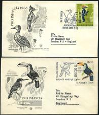 """Argentinien 1969 """"Kinderhilfe"""" Vögel, MiNr 1034/5  auf gelaufenem FDC"""