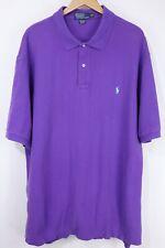 Polo Ralph Lauren Mens 3XLT Tall Purple Mesh Short Sleeve Shirt Aqua Pony