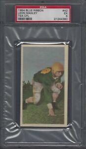 1954 Blue Ribbon CFL Football Card #42 Leon Manley Graded PSA 5