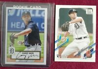 (2) 2021 Topps Series 1 CASEY MIZE RC Rookie LOT! 1952 Insert T52-7 & Base #321