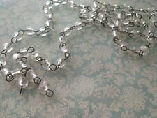 Vintage Italian Clear MaCaRoni Beaded ChaNdeLieR Chain Aged Dark Patina links