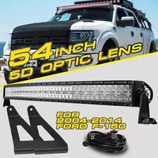 "For 2004-2014 Ford F-150 54"" 1040W Curved CREE LED Light Bar Upper Mount Bracket"