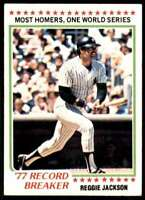 1978 Topps Reggie Jackson New York Yankees #7