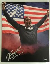 Kevin Durant Signed Autogaphed 16x20 Canvas Golden State Warriors BECKETT COA