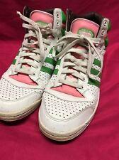 Rare Adidas Watermelon Top Ten Hi Men's Size 14 Athletic Sneakers Pink & Green