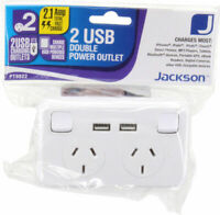 Dual GPO Mains Power point With 2 X USB Charging Outlets Sockets 240V 2.1Amp