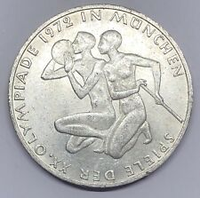 1972-J Germany 10 Deutsche Mark Munich Olympics Silver Coin (G351)