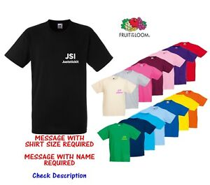 Personalised Custom Tee Shirt Business Work 1 Colour - text logo front and back